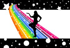 Free Rainbow Dancer Stock Photo - 5288950