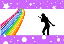 Free Rainbow Dancer Royalty Free Stock Image - 5289056