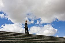 Free Businesswoman On Top Stock Photography - 5289072