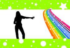 Free Rainbow Dancer Stock Photos - 5289103