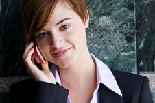 Free Businesswoman At Phone Stock Photography - 5289162