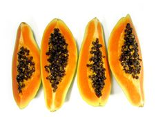 Free Papaya Slices Stock Photo - 5289170