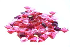 Free Pink Plastic Square Bits Royalty Free Stock Photos - 5289228