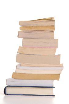 Free Books Isolated Royalty Free Stock Image - 5289606
