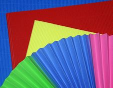 Free Colorful Corrugated Paper Stock Images - 5289614