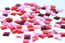 Free Pink Plastic Square Bits Royalty Free Stock Photos - 5289678