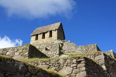 Free Watchman S Hut In Machu Picchu Royalty Free Stock Image - 5289976