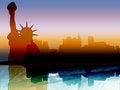 Free New York Skyline Silhouette Royalty Free Stock Photography - 52813677