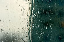 Free Natural Rain Drops On Glass Royalty Free Stock Photos - 52843788
