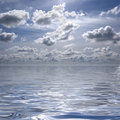 Free Blue Sky With Water Reflexion Stock Photo - 5292660