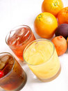 Free Three Mixed Drinks And Fresh Fruits Royalty Free Stock Photo - 5294365
