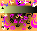 Free Colored Circles And Butterflies Royalty Free Stock Photos - 5297568
