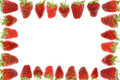 Free Delicious Strawberry Frame Royalty Free Stock Photos - 5297878