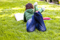 Free Student In The Park Royalty Free Stock Photos - 5299968