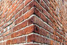 Brick Wall - Corner Stock Photography