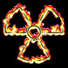 Free Burning Radiation Sign Royalty Free Stock Photo - 5290165