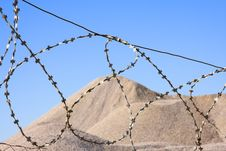Free Desert After Barbed Wire Stock Photography - 5290822