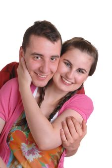 Free Attractive Affectionate Young Couple Stock Image - 5291091