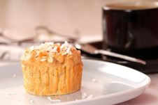 Free Tropical Pineapple Muffin With Coconut Stock Photography - 5292072