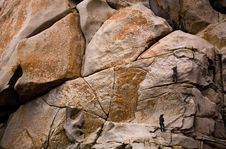 Climbers In Action Royalty Free Stock Photos