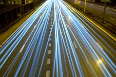 Highway At Night. Stock Images