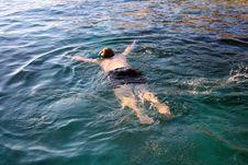 Free Man Snorkeling Royalty Free Stock Images - 5292309