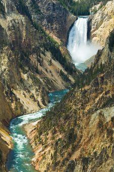 Free Lower Yellowstone Falls Royalty Free Stock Photos - 5293268