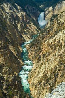 Free Lower Yellowstone Falls Stock Photo - 5293280