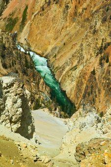 Free Lower Yellowstone Falls Royalty Free Stock Photo - 5293295