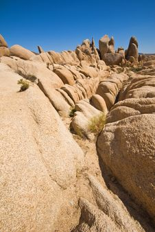Free Rock Formations, Joshua Tree National Park Stock Photography - 5293332