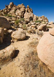 Free Rock Formations, Joshua Tree National Park Royalty Free Stock Photography - 5293527
