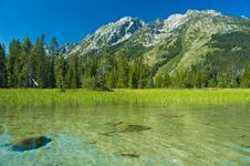 Free Canoeing In The Grand Tetons Royalty Free Stock Image - 5293546