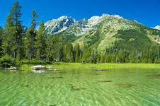 Free Canoeing In The Grand Tetons Royalty Free Stock Photography - 5293567