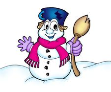 Free Snowman Stock Photography - 5294022