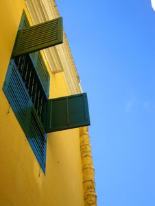 Window And Blue Sky Stock Photography
