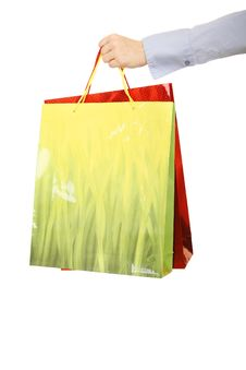 Free Hand Over Shopping Bags Royalty Free Stock Image - 5294306