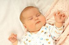 Free Little Baby Sleeping Royalty Free Stock Image - 5294416