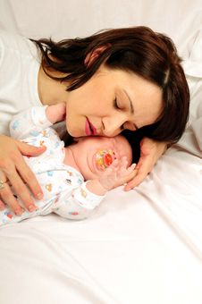 Mom And Little Baby Girl Royalty Free Stock Image