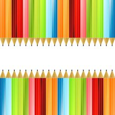 Colored Pencils Colorful Background Royalty Free Stock Photo