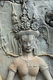 Free Cambodia Angkor Wat: Bas Reliefs Stock Image - 5294791