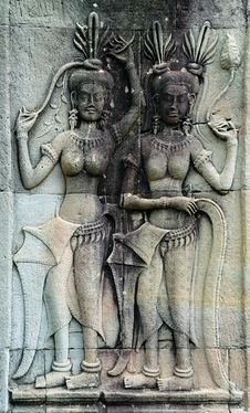 Free Cambodia Angkor Wat: Bas Reliefs Royalty Free Stock Image - 5294796