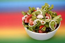 Free Tossed Green Salad Stock Photo - 5294840