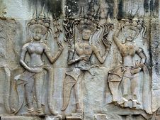 Free Cambodia Angkor Wat: Bas Reliefs Stock Images - 5294864