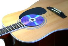 Free Guitar With Audio Disc Royalty Free Stock Image - 5295256