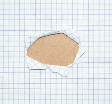 Free Hole In A Paper Sheet Stock Photos - 5295283