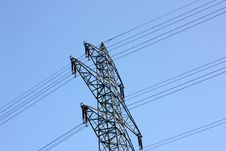 Free High Voltage Power Line Stock Image - 5295521