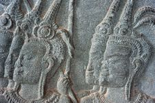Free Cambodia; Angkor Wat; Bas Reliefs Stock Images - 5295844
