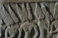 Free Cambodia; Angkor Wat; Bas Reliefs Royalty Free Stock Photography - 5295997