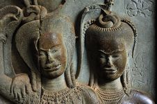 Free Cambodia Angkor Wat: Bas Reliefs Stock Photography - 5296082