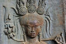 Free Cambodia Angkor Wat: Bas Reliefs Royalty Free Stock Photos - 5296188